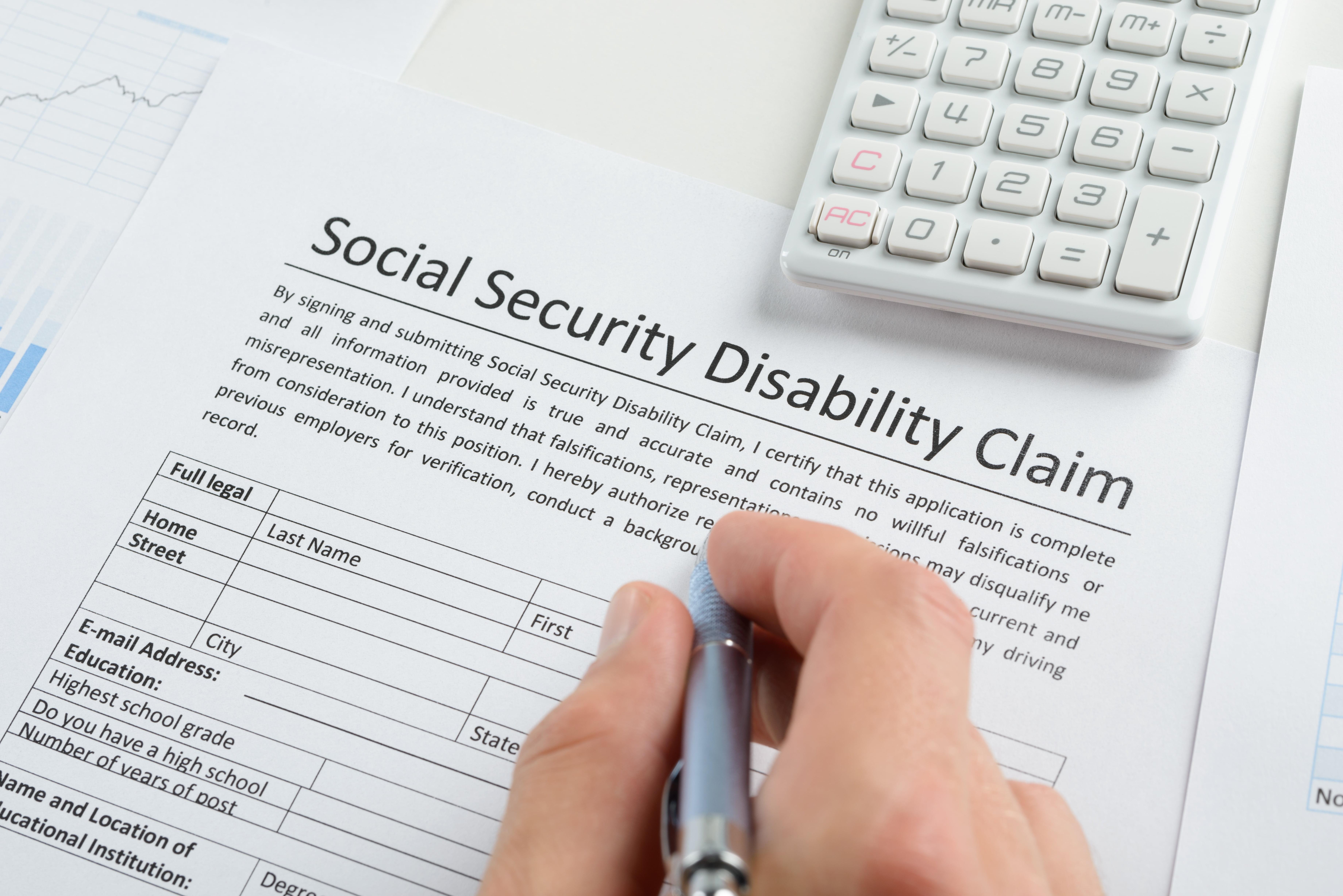 Social Security Disability Claim document